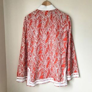 Tory Burch Tops - Tory Burch Cotton Long Sleeve Tunic Blouse
